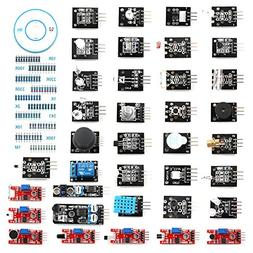 HWAYEH 37 In 1 Sensor Modules Kit,With Tutorial For Arduino