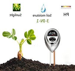 Supersks 3-in-1 Soil Tester Meter Test Kit For Light, Moistu