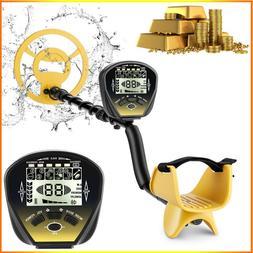 "COOCHEER 10"" Deep Metal Detector Waterproof Gold Finder LCD"