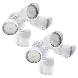 30W 3-Head Motion Activated LED Outdoor Security Light, Phot