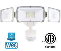Amico 39W 3 Head LED Security-Lights Motion Outdoor, Motion