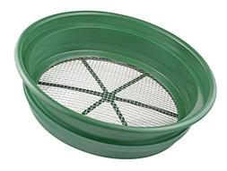 13 3/4 Top Gold Sifting Pan with 11 Bottom 1/4 Mesh Size, Fi