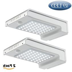 Cinoton 2 Pack 49 LED Gutter Solar Lights Outdoor Security L