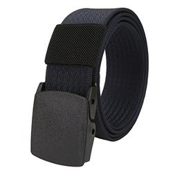 Faleto Mens Military Webbing Hypoallergenic Plastic Buckle A