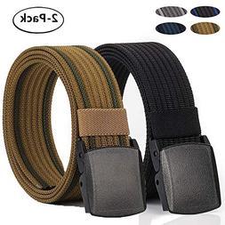Hoanan Non-Metal Nylon Belt, Mens Casual Web Jeans Waist Bel