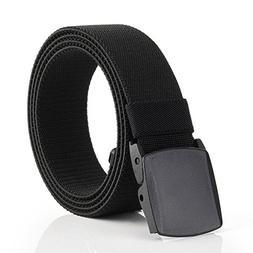 Mens Stretch Elastic Jeans Belt Genuine canvas nylon waistba