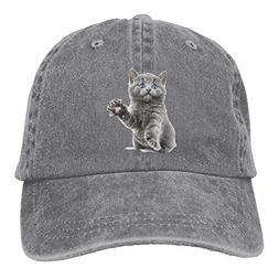 PYH0kox Cat Hat Snap-Back Hip-Hop Cap Baseball Hat Head-Wear