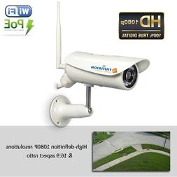 TriVision Outdoor Security Camera WiFi POE HD 1080P with Lon