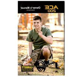 ace 200 metal detector owner s manual