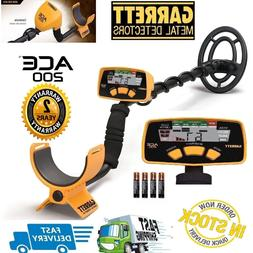 Garrett ACE 200 Metal Detector with Waterproof Search Coil a
