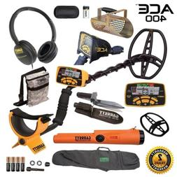 Garrett ACE 400 Metal Detector with ProPointer AT, Digger, P