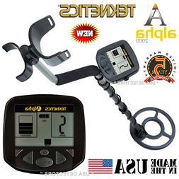 alpha 2000 metal detector with 8 waterproof