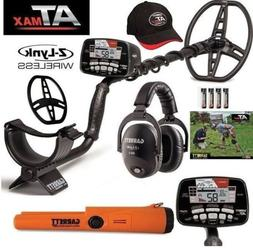 Garrett AT MAX Metal Detector Wireless Headphones, Hat, Cove