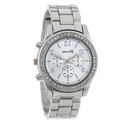 Baigoods Faux Chronograph Quartz Classic Round Ladies Women