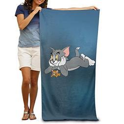 FOOOKL Bath Towel - Cats and Mice Soft Large Swim Beach Towe