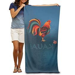 Sakanpo Bath Towel - Kauai Wild Rooster Lightweight Large Sw