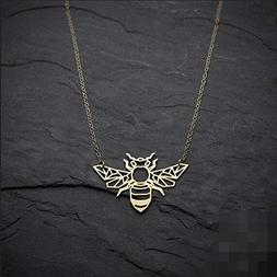 Bee Necklace Origami Animal Necklace Bug Necklace, Insect Je