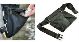 Black Metal Detector 3 Pocket Prospectors Utility Belt & Pou