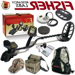 Fisher F75 LTD BLACK Metal Detector Bundle with Boost and Ca