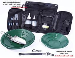 VAS 21 PC Blue Prospectors Gold Panning Pan Essentials Set K