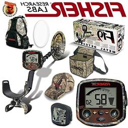 Fisher F19 LTD Camo Bundle with Back Pack Coil Cover Rain Co