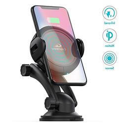 Car Mount Wireless Car Charger - Automatic Sensor Qi Wireles