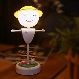 LED Children Night Light, Creative Scarecrow Touch Sensor La