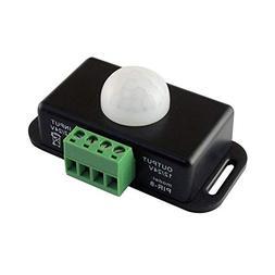 DC 12V 24V 8A Automatic Adjust PIR Motion Sensor Switch IR I