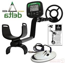 """Teknetics Delta 4000 Metal Detector with 8"""" and 10"""" DD Searc"""