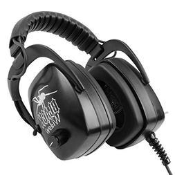 "DetectorPro Black Widow Platinum Headphones 1/4"" Plug Metal"