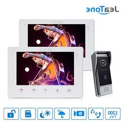 """Jeatone 7"""" Video Intercom Systems, Wired Touch Screen Video"""