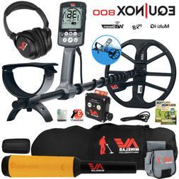 Minelab EQUINOX 800 Metal Detector w/ Pro Find 15, Carry Bag