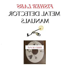 FISHER LABS METAL DETECTOR USER OWNER MANUALS  DETECTING FRE