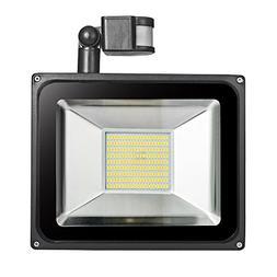 Shengruhua LED Flood Light with Motion Sensor 100W Waterproo
