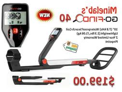 Minelab GO-FIND 40 Metal Detector with 10 inch 7.8 kHz Water
