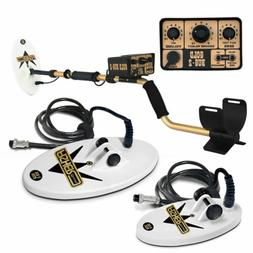 """FISHER GOLD BUG 2 II COMBO GOLD Metal Detector w/ 10"""" and 6."""