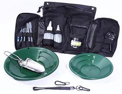 VAS 21 PC Green Prospectors Gold Panning Pan Essentials Set