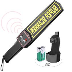 UNIROI Hand Held Metal Detector Wand Security Scanner with 9
