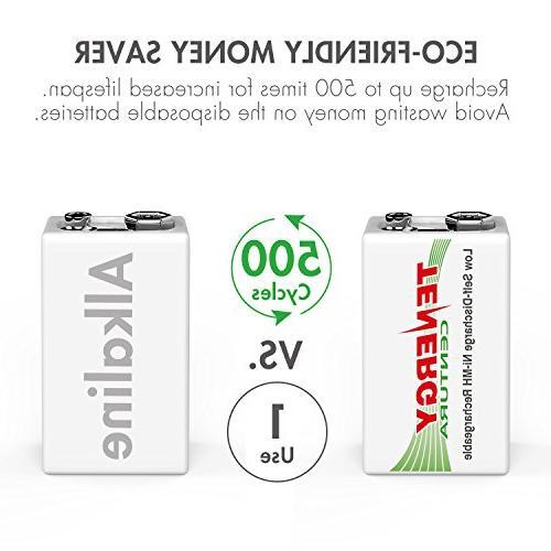 Tenergy9V NIMH Low Smoke Alarm/Detector
