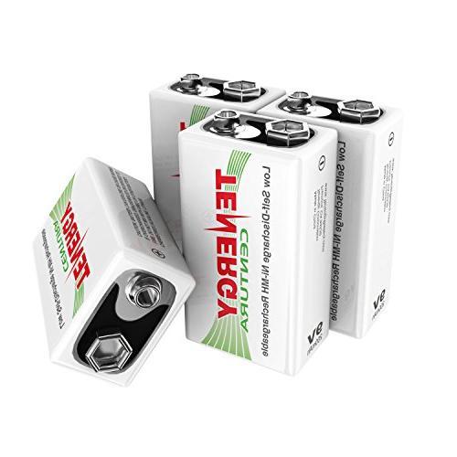 Tenergy9V NIMH Rechargeable Batteries,200mAh Low Self-Di