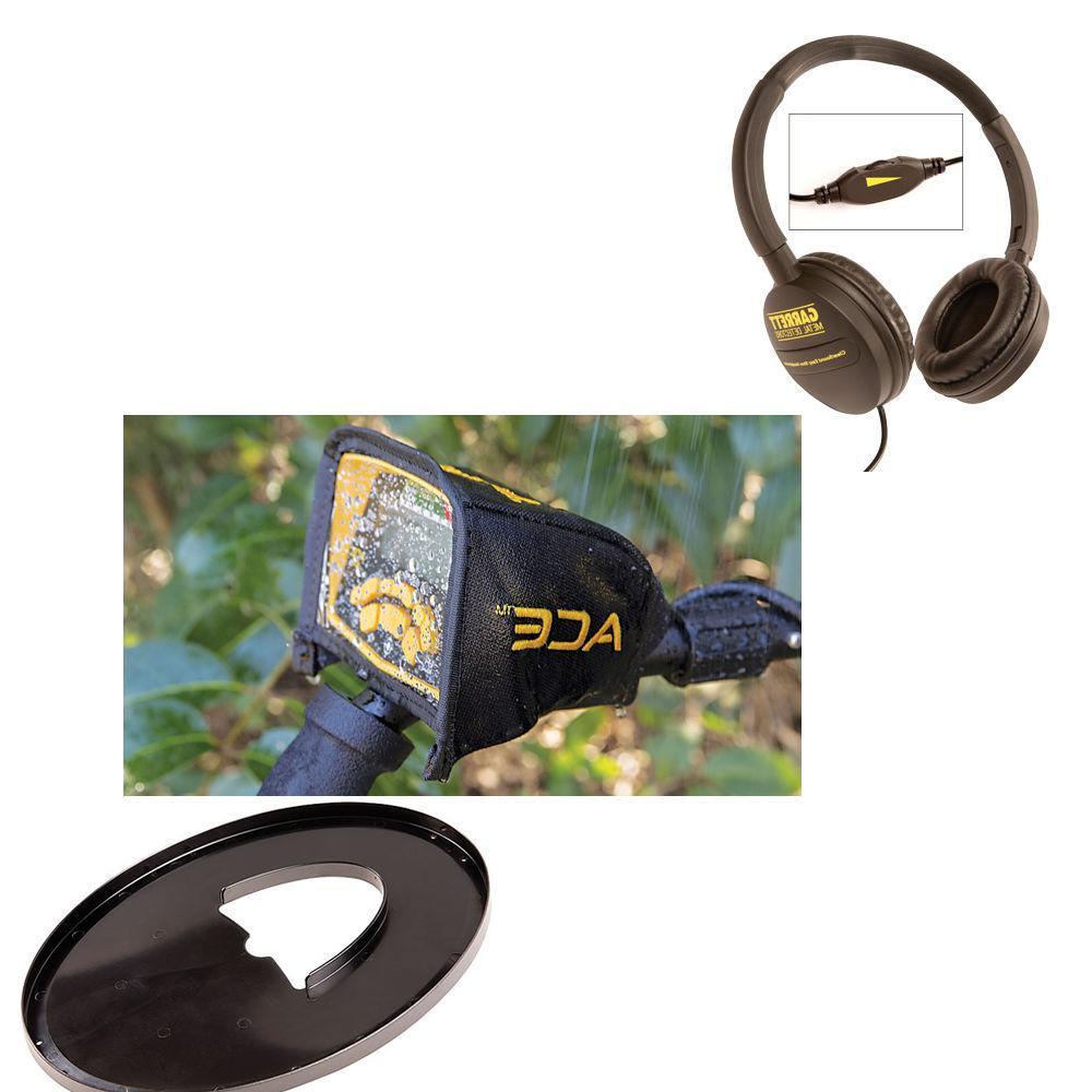 Garrett 300 Metal Detector with Travel Headphones, Cover,