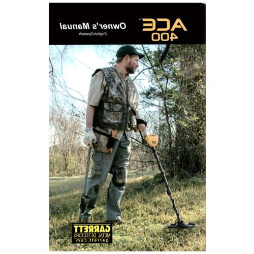 ace 400 metal detector owner s manual