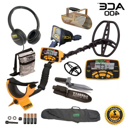 ace 400 metal detector with digger pouch