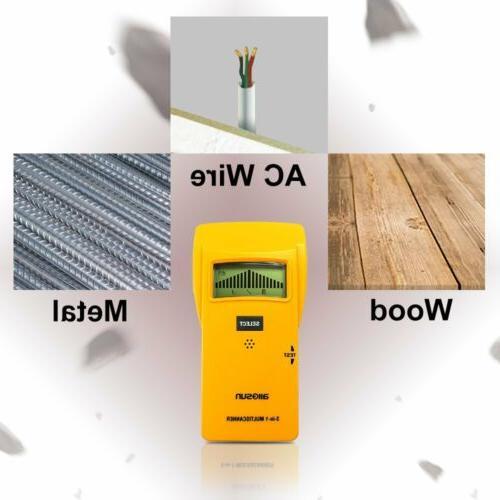 all-sun Stud Digital Metal Detector Studs/Live AC Yellow