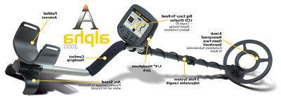 "Teknetics ALPHA 2000 Metal Detector with 8"" WATERPROOF Search Coil"