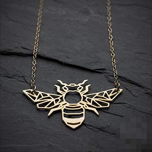 Bee Necklace Necklace Bug Jewelry. -