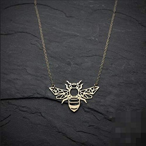 bee necklace origami animal
