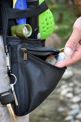 Black Metal Pocket Prospectors Utility & W/two Carabiners