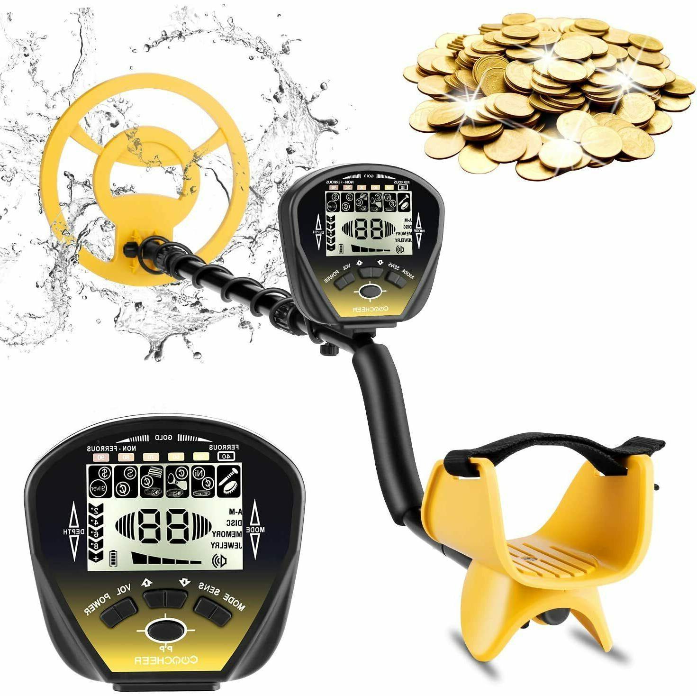 COOCHEER Metal Detector for Adults, 5 Mode Underwater Metal