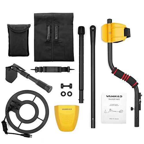 CANWAY Detector with Accuracy Gold Kids and Adults. 3 Deep Plus Shovel/Pickaxe and GC-1028